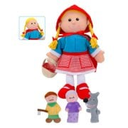 Tellatale Little Red Riding Hood Hand Puppet Set with Finger Puppets