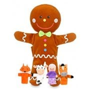 Tellatale Gingerbread Man Hand Puppet Set with Finger Puppets