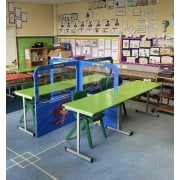 Primary School Desk Partitions 5ft - Includes 8 Fun Posters