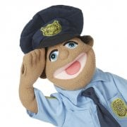 Police Officer Puppet With Detachable Wooden Rod